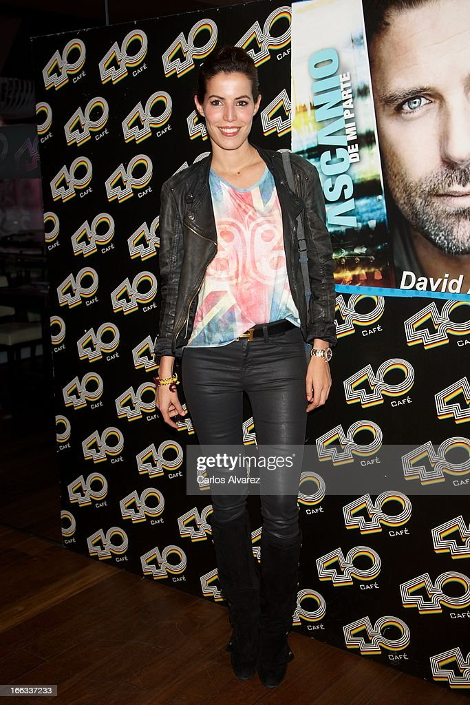 Spanish model Cristina Wagner attends David Ascanio concert at the Cafe 40 Club on April 11, 2013 in Madrid, Spain.