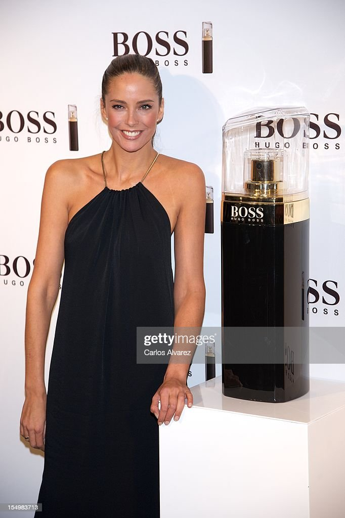 Spanish model Estefania Luyk attends the new 'Boss Nuit Pour Femme' Hugo Boss parfum presentation at the Neptuno Palace on October 29, 2012 in Madrid, Spain.