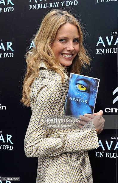 Spanish model Estefania Luyk presents 'Avatar' on DVD and Blu Ray on April 21 2010 in Madrid Spain