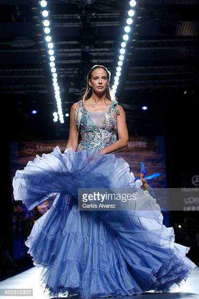 Spanish model Estefania Luyk showcases designs by Francis Montesinos on the runway at Francis Montesinos show during Mercedes Benz Fashion Week...