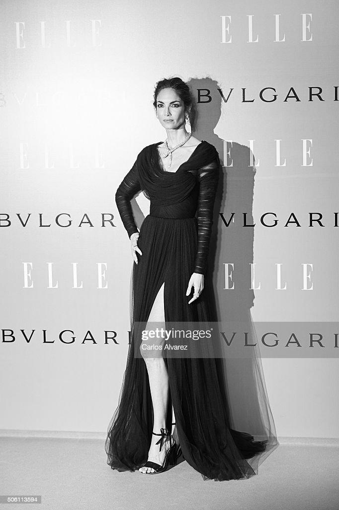 Spanish model Eugenia Silva celebrates her birthday at the El Museo del Traje on January 21 2016 in Madrid Spain