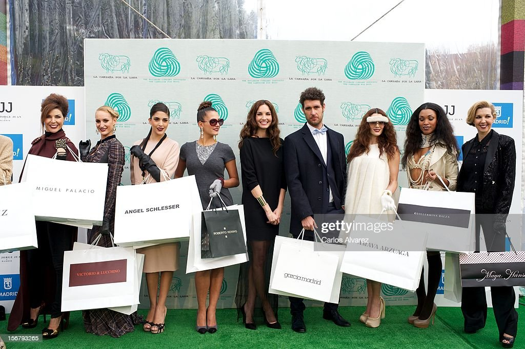 Spanish model Eugenia Silva (C) inaugurates the Wool Week 2012 at Plaza de Colon on November 21, 2012 in Madrid, Spain.