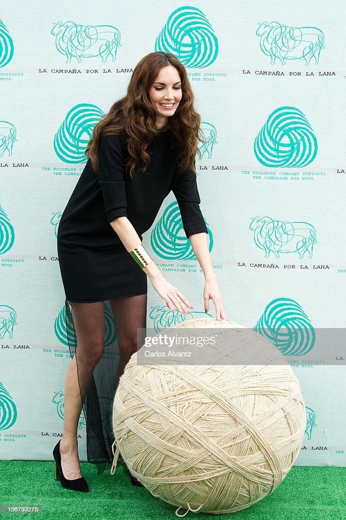 Spanish model Eugenia Silva inaugurates the Wool Week 2012 at Plaza de Colon on November 21, 2012 in Madrid, Spain.