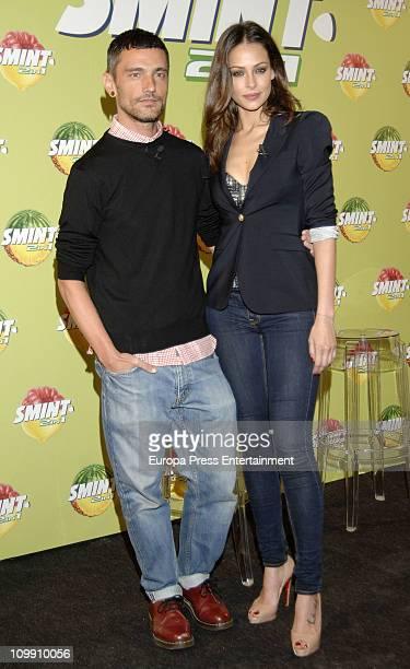 Spanish model Eva Gonzalez and fashion designer David Delfin present 'Smint 2 in 1' on March 9 2011 in Madrid Spain