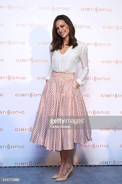 Spanish model Eva Gonzalez is presented as the new face of Clarisonic at the Giner de los Rios Foundation on May 26 2015 in Madrid Spain