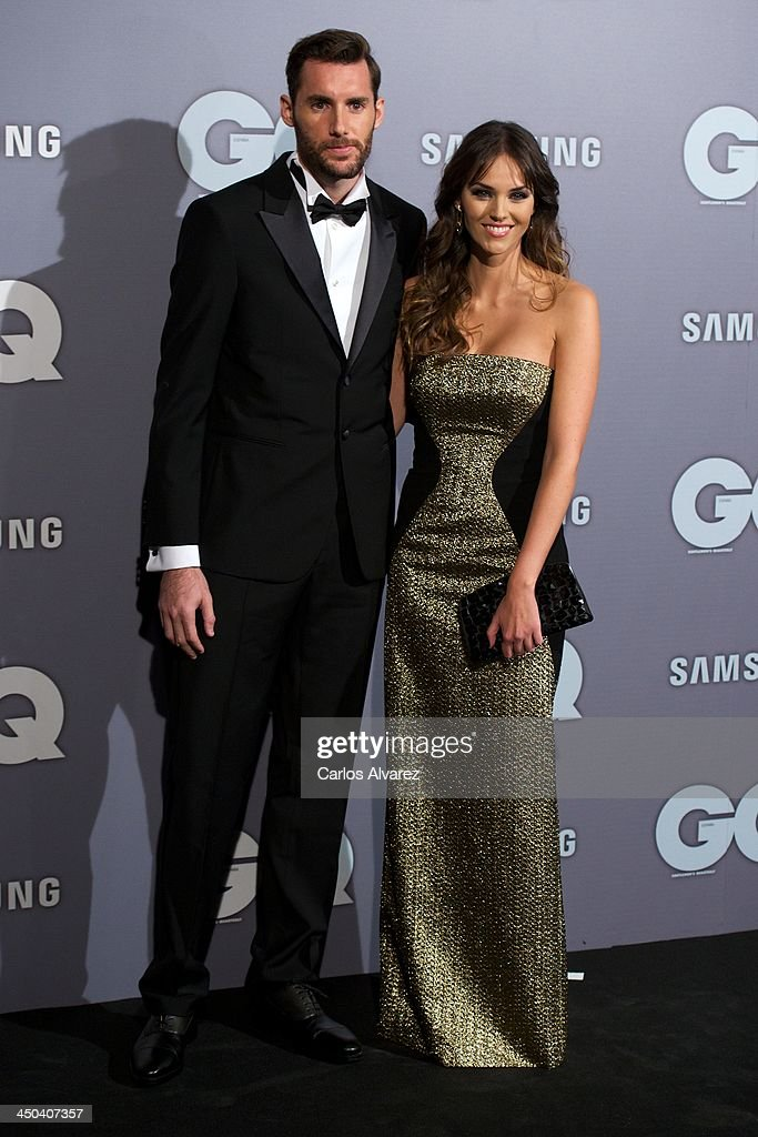 Spanish model <a gi-track='captionPersonalityLinkClicked' href=/galleries/search?phrase=Helen+Lindes&family=editorial&specificpeople=3446097 ng-click='$event.stopPropagation()'>Helen Lindes</a> and Rudy Fernandez attend the GQ Men Of The Year Award 2013 at the Palace Hotel on November 18, 2013 in Madrid, Spain.
