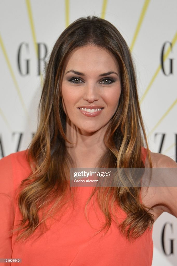 Spanish model Helen Lindes attends the 'Grazia' magazine launch party at the Price theater on February 12, 2013 in Madrid, Spain.