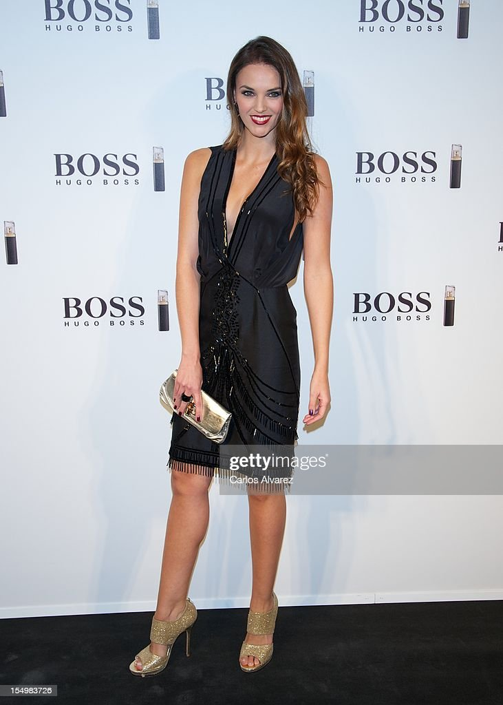 Spanish model Helen Lindes attends the new 'Boss Nuit Pour Femme' Hugo Boss parfum presentation at the Neptuno Palace on October 29, 2012 in Madrid, Spain.