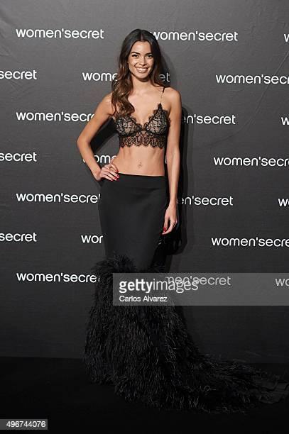 Spanish model Joana Sanz attends the Women'secret Videoclip presentation at the La Riviera Club on November 11 2015 in Madrid Spain