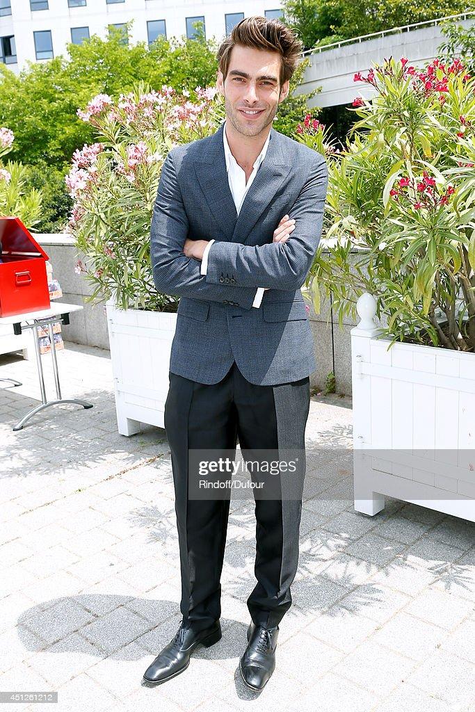 Spanish Model Jon Kortajarena attends the Louis Vuitton show as part of the Paris Fashion Week Menswear Spring/Summer 2015 on June 26 2014 in Paris...