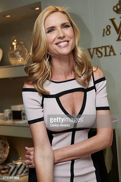 Spanish model Judit Masco attends 'Vista Alegre' store inauguration on May 21 2015 in Madrid Spain