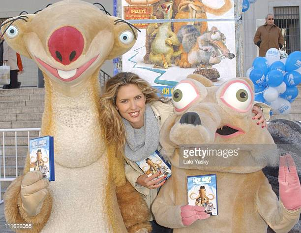 Spanish model Judit Masco during 'Ice Age' Video and DVD Promotional Launch in Madrid at Reina Sofia Museum in Madrid Spain