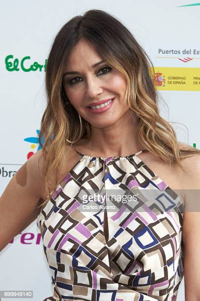 Spanish model Juncal Rivero attends the 'Get Best Give Most' charity party at the French Embassy on June 22 2017 in Madrid Spain