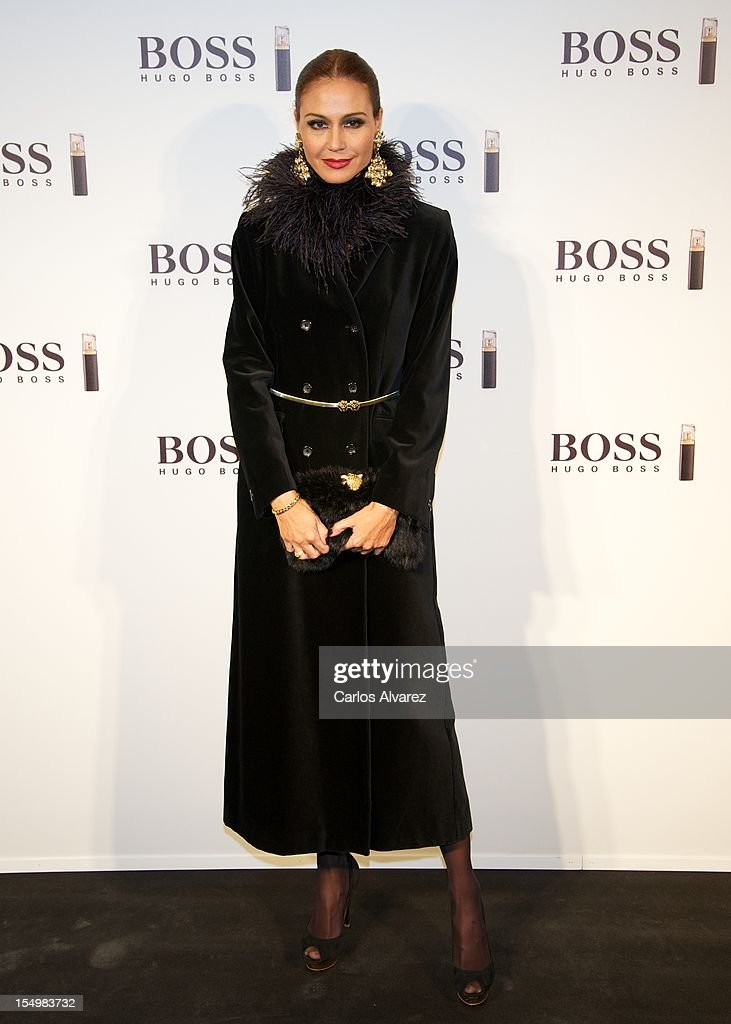 Spanish model Juncal Rivero attends the new 'Boss Nuit Pour Femme' Hugo Boss parfum presentation at the Neptuno Palace on October 29, 2012 in Madrid, Spain.