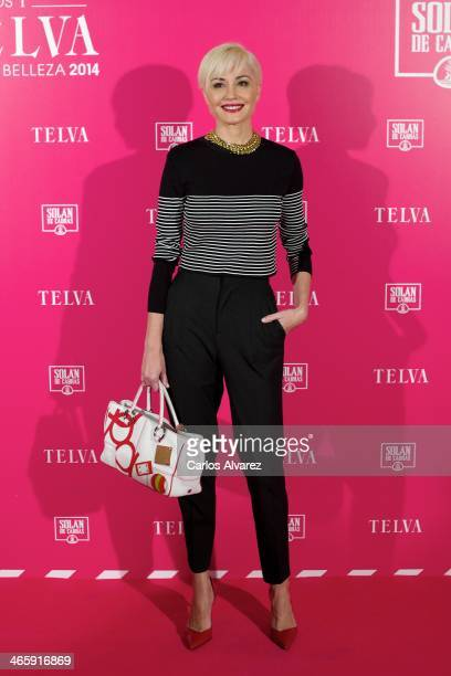 Spanish model Juncal Rivero attends the 'T de Telva' beauty awards 2014 at the Palace Hotel on January 30 2014 in Madrid Spain