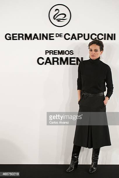 Spanish model Laura Ponte attends the 'Carmen' Germaine de Capuccini award at the Academia de Cine on January 29 2014 in Madrid Spain
