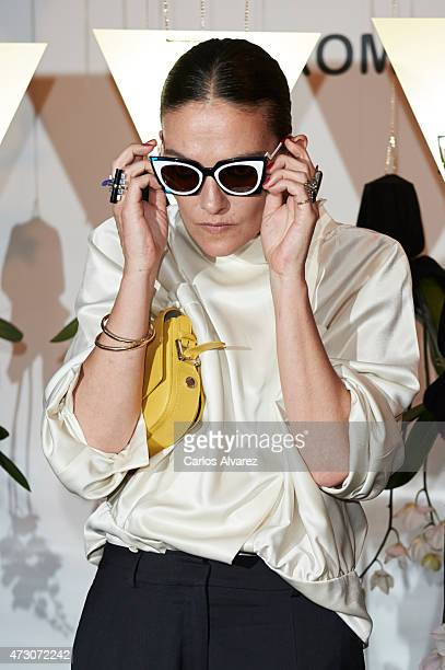Spanish model Laura Ponte launches the new Fendi Eyewear Collection at the Villamagna Hotel on May 12 2015 in Madrid Spain