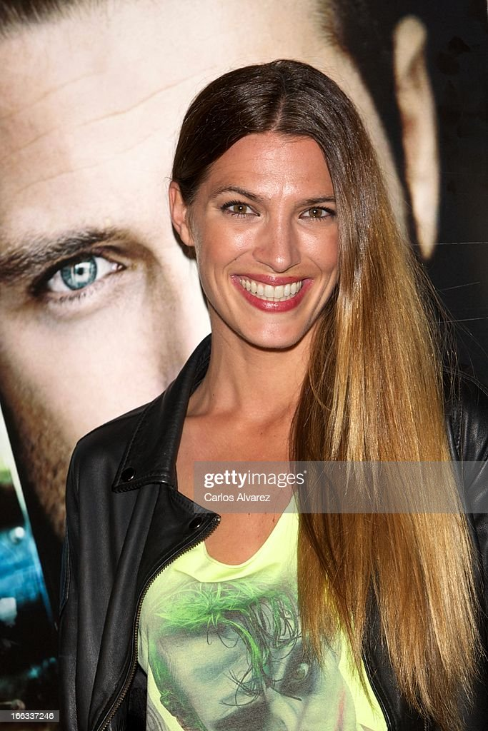 Spanish model Laura Sanchez attends David Ascanio concert at the Cafe 40 Club on April 11, 2013 in Madrid, Spain.