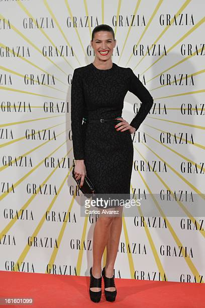Spanish model Laura Sanchez attends the 'Grazia' magazine launch party at the Price theater on February 12 2013 in Madrid Spain
