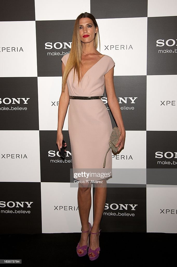 Spanish model Laura Sanchez attends the Sony Mobile Gala premiere at the Callao cinema on March 12, 2013 in Madrid, Spain.