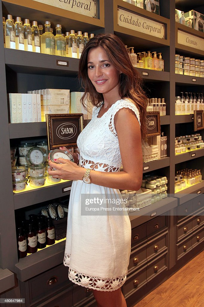 Spanish model Malena Costa inaugurates Sabon Boutique on June 12 2014 in Madrid Spain