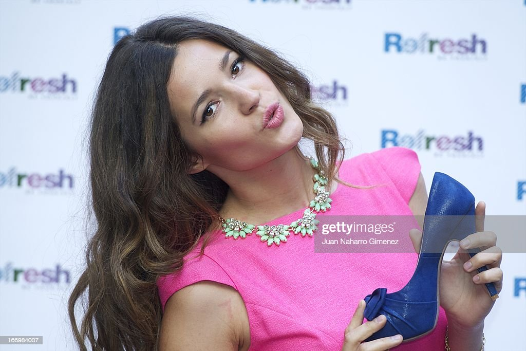 Spanish model <a gi-track='captionPersonalityLinkClicked' href=/galleries/search?phrase=Malena+Costa&family=editorial&specificpeople=5723369 ng-click='$event.stopPropagation()'>Malena Costa</a> presents the new 'Refresh' campaign at the Hostel Hotel on April 19, 2013 in Madrid, Spain.