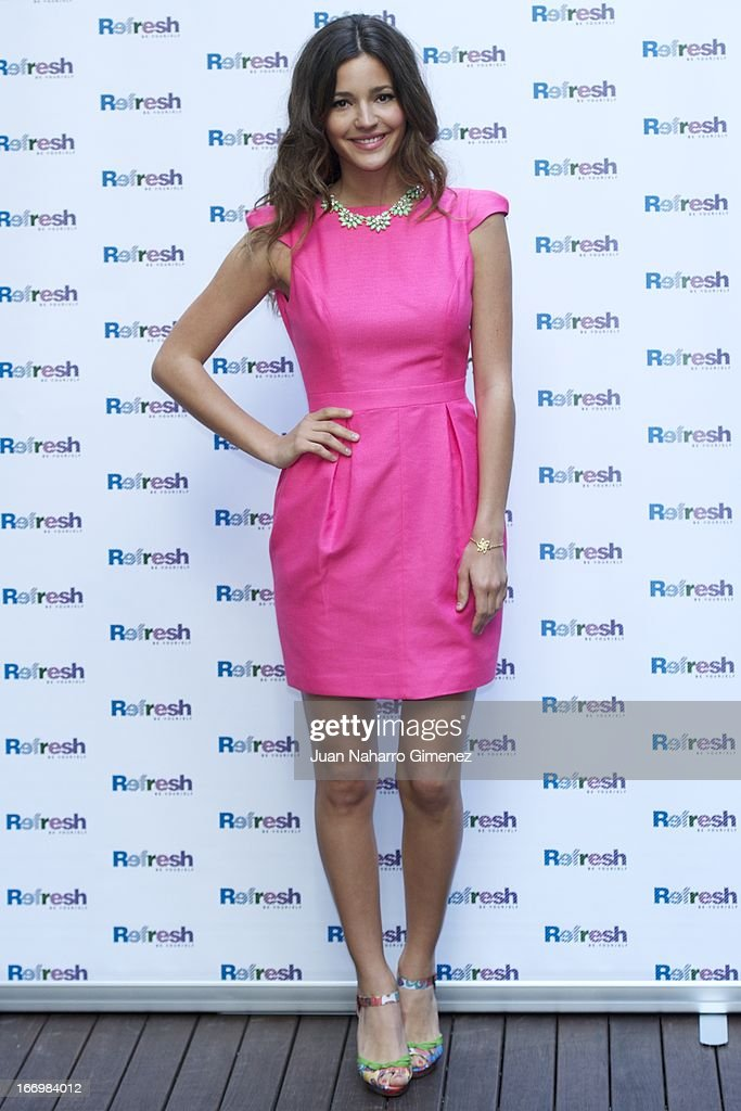 Spanish model Malena Costa presents the new 'Refresh' campaign at the Hostel Hotel on April 19, 2013 in Madrid, Spain.