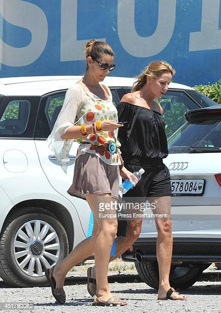 Spanish model Mar Flores is seen on July 6 2014 in Ibiza Spain