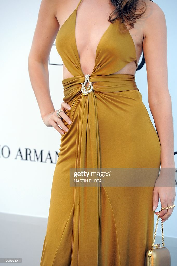 Spanish model Mar Saura arrives at amfAR's Cinema Against Aids 2010 benefit gala on May 20, 2010 in Antibes, southeastern France.