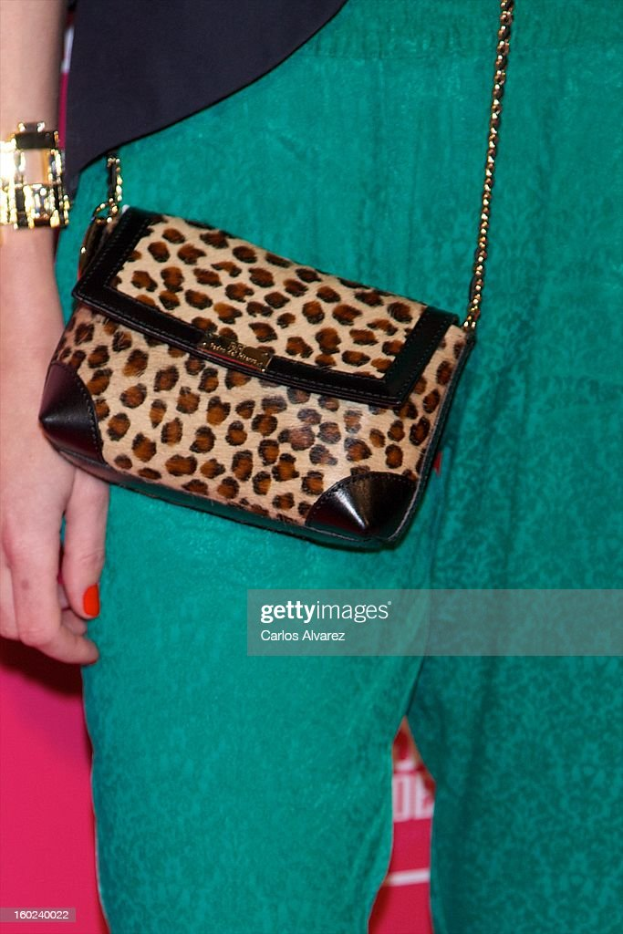 Spanish model Maria Leon attends 'Beauty T' awards at the Palace Hotel on January 28, 2013 in Madrid, Spain.