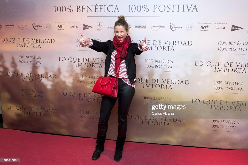 Spanish model Maria Leon attends 'Lo Que De Verdad Importa' (The Healer) premiere at the Capitol cinema on February 15, 2017 in Madrid, Spain.