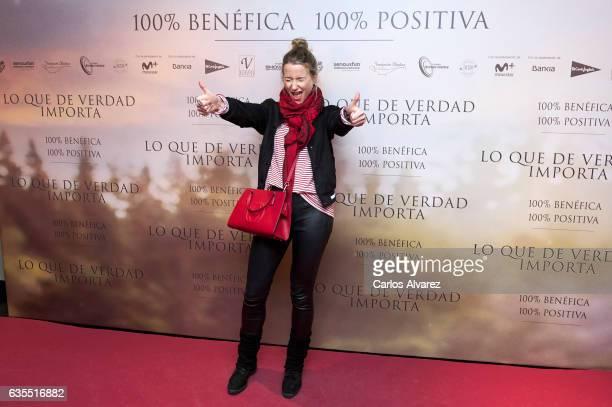 Spanish model Maria Leon attends 'Lo Que De Verdad Importa' premiere at the Capitol cinema on February 15 2017 in Madrid Spain