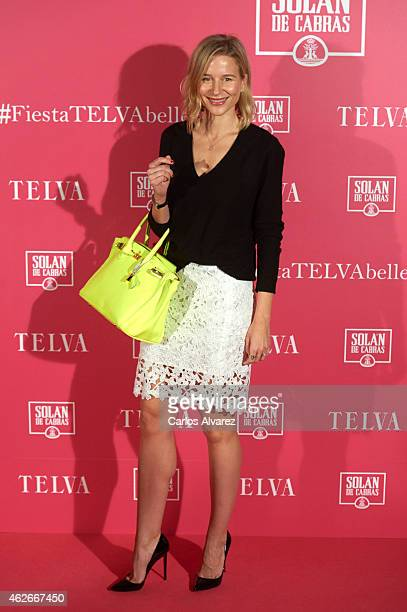 Spanish model Maria Leon attends the 'Telva' Beauty Awards 2015 at the Palace hotel on February 2 2015 in Madrid Spain