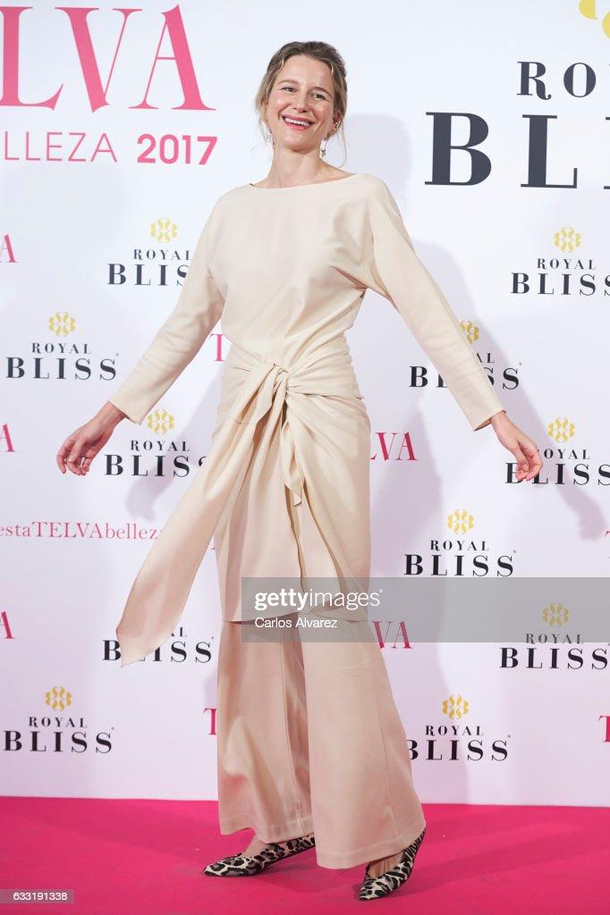 Spanish model Maria Leon attends the 'Telva Beauty' awards 2016 at the Palace Hotel on January 31, 2017 in Madrid, Spain.