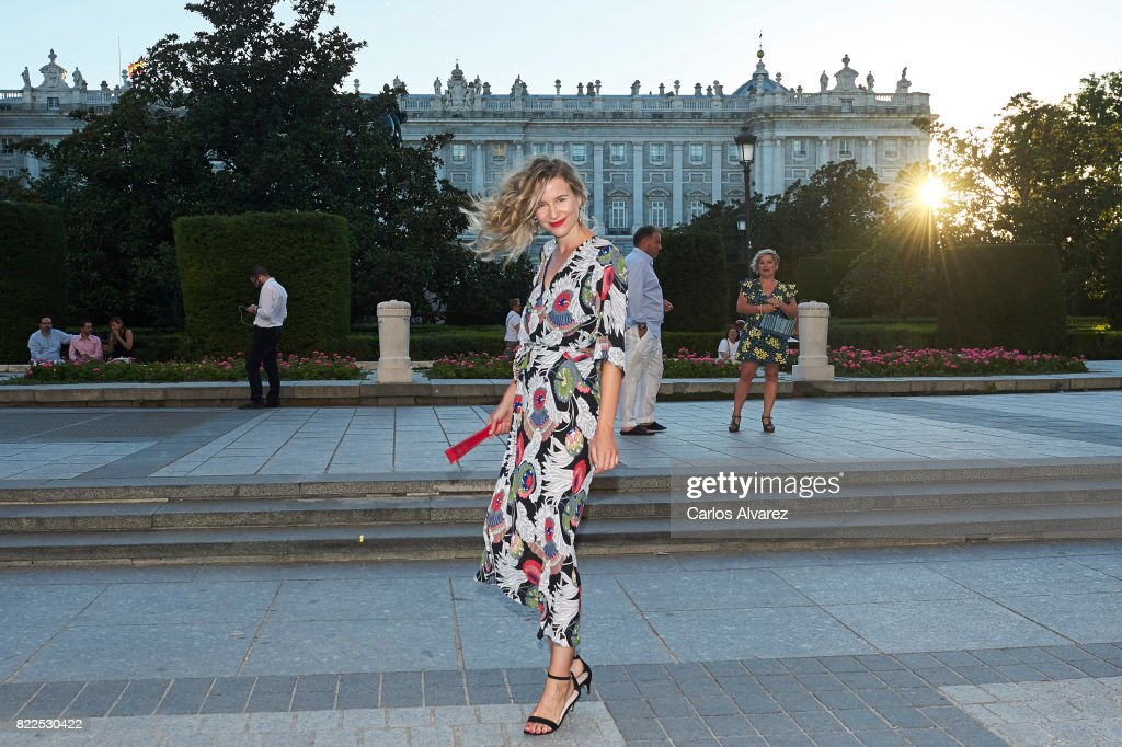 Spanish model Maria Leon attends the Zucchero concert at the Royal Teather on July 25, 2017 in Madrid, Spain.