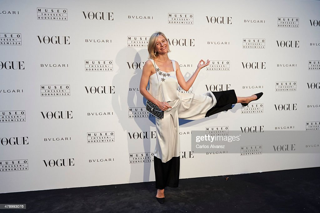 Spanish model Maria Leon attends 'Vogue Like a Painting' exhibition at the Thyssen Bornemisza Museum on June 29 2015 in Madrid Spain