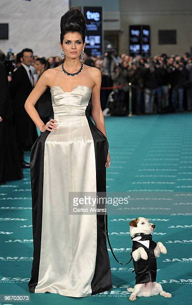 Spanish model Maria Reyes attends Goya awards 2010 photocall at 'Palacio de Congresos' on February 14 2010 in Madrid Spain