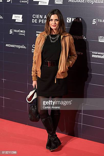 Spanish model Maria Reyes attends the 'Cien Anos de Perdon' premiere at the Capitol cinema on March 1 2016 in Madrid Spain
