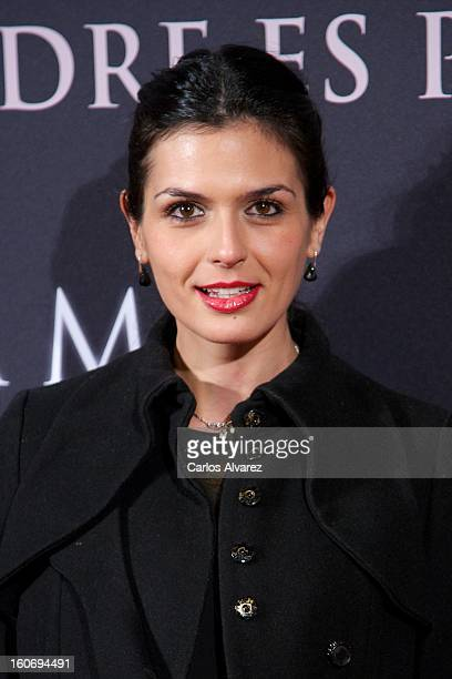 Spanish model Maria Reyes attends the 'Mama' premiere at the Callao cinema on February 4 2013 in Madrid Spain