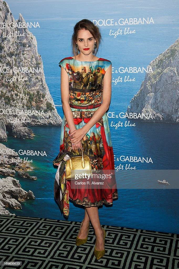 Spanish model Marina Jamieson attends Mediterranean Summer Cocktail By Dolce & Gabbana at the Santo Mauro Hotel on May 29, 2013 in Madrid, Spain.