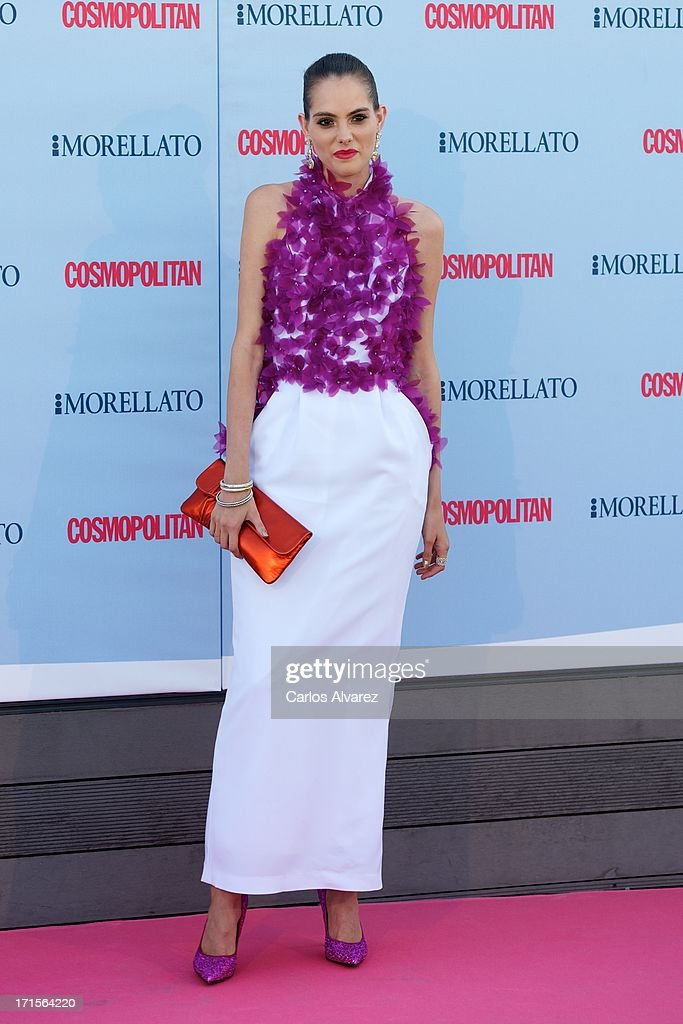 Spanish model Marina Jamieson attends the 'Cosmopolitan Fragance Awards' 2013 at the Circulo de Bellas Artes on June 26, 2013 in Madrid, Spain.