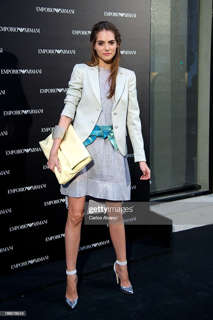 Spanish model Marina Jamieson attends the Emporio Armani Boutique opening on April 8, 2013 in Madrid, Spain.