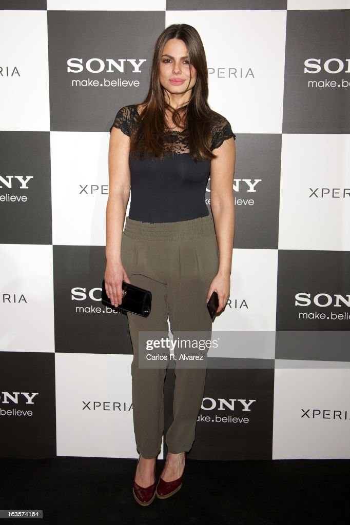 Spanish model Marisa Jara attends the Sony Mobile Gala premiere at the Callao cinema on March 12, 2013 in Madrid, Spain.