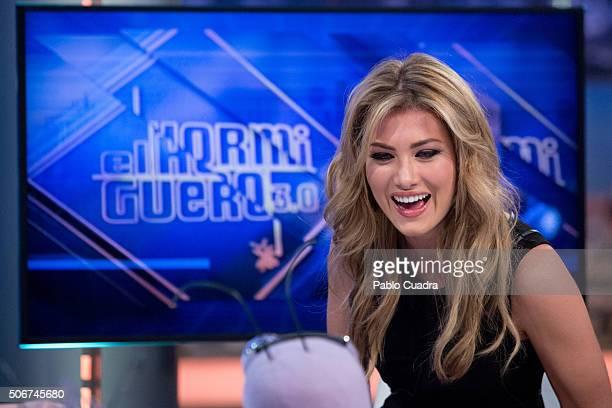 Spanish model Mireia Lalaguna attends 'El Hormiguero' Tv Show on January 25 2016 in Madrid Spain