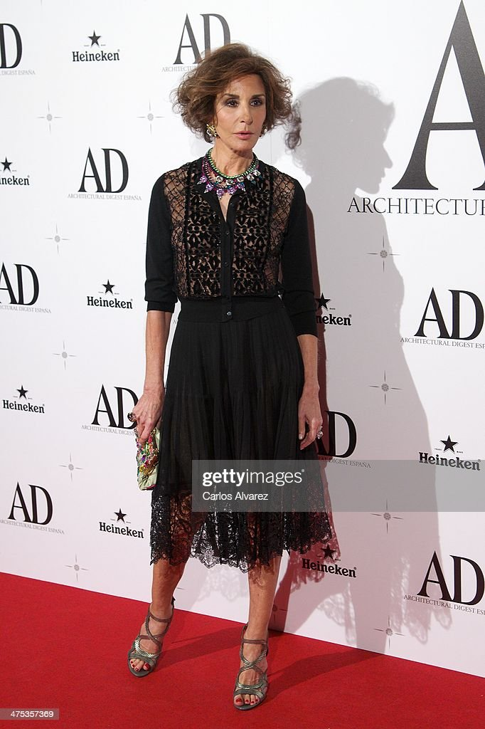 Spanish model <a gi-track='captionPersonalityLinkClicked' href=/galleries/search?phrase=Nati+Abascal&family=editorial&specificpeople=2254032 ng-click='$event.stopPropagation()'>Nati Abascal</a> attends the AD Awards 2014 at the Santa Coloma Palace on February 27, 2014 in Madrid, Spain.