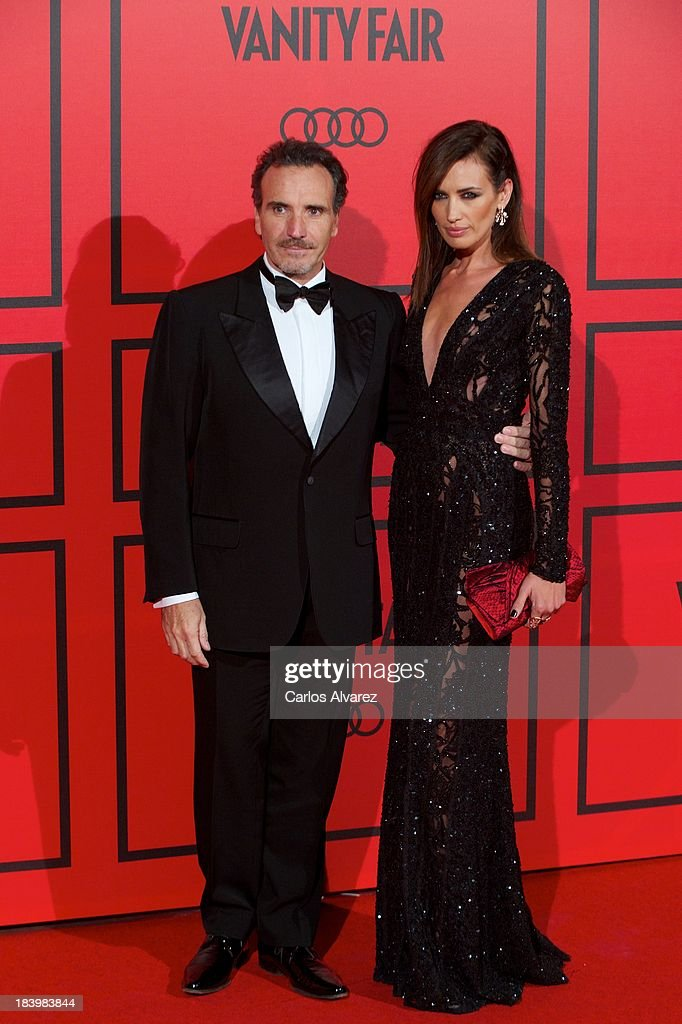 Spanish model Nieves Alvarez and husband Marco Severini attend the Vanity Fair 5th anniversary paty at the Santa Coloma Palace on October 10, 2013 in Madrid, Spain.