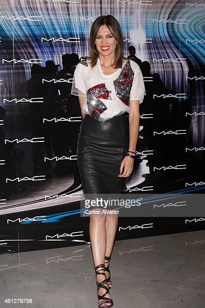 Spanish model Nieves Alvarez attends MAC Make Up catwalk at the Italian Embassy on June 26 2014 in Madrid Spain