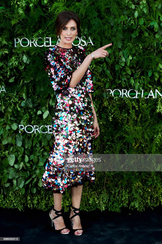 Spanish model Nieves Alvarez attends the opening of the new Porcelanosa store on June 14, 2017 in San Sebastian de los Reyes, Spain.