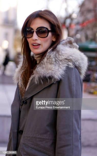 Spanish model Nieves Alvarez is seen sighting on January 14 2011 in Madrid Spain