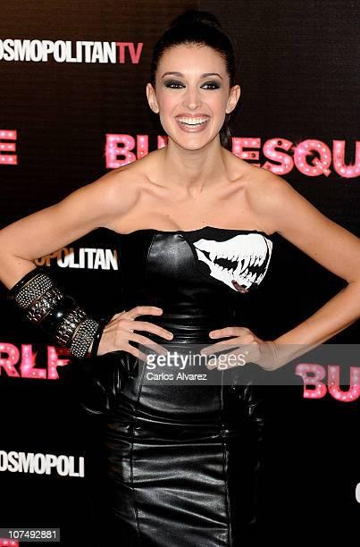 Spanish model Noelia Lopez attends 'Burlesque' premiere at Callao cinema on December 9 2010 in Madrid Spain